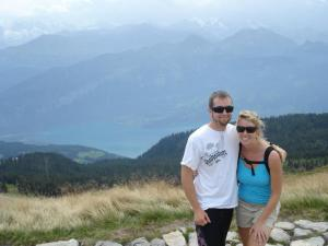 Hiking in the Alps with my new Hubby Hobo.