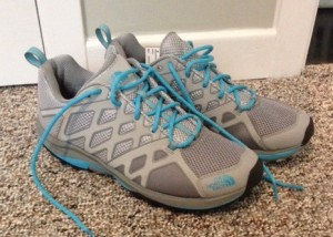 My Running shoes with a hiker sole.  Wait for end of summer deals on the clearance rack at Sail.