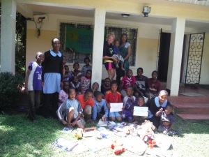 """Asante FFSS"" - the donations from the Fenelon Falls staff made it to Tanzania."