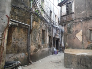 Winding streets in Stone Town