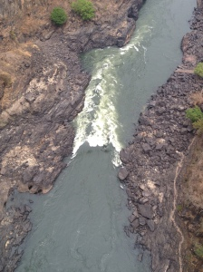 "Bird's eye view of the first rapid, ""The Boiling Point"""