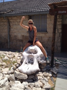 Only in Africa can you ride an elephant skull!