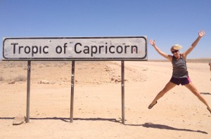 From the Tropic of Cancer, across the Equator, and down to the Tropic of Capricorn!