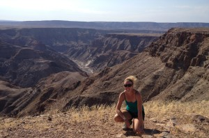 Fish River Canyon - 160 km long, 27 km wide, and 550 m deep.