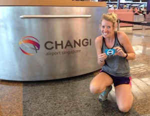 Smuggling gum into Singapore, such a rebel!