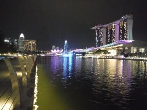 The lit up Lake