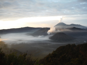Sunrise view of Mount Bromo.