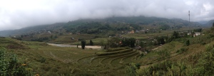 The rolling hills and rice paddies.